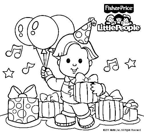 Dibujo de Little People 7 para Colorear