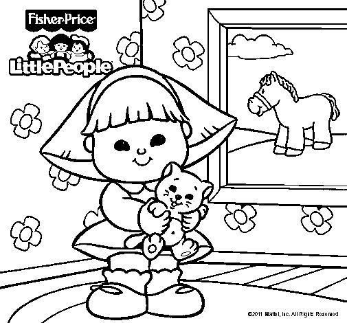 Dibujo de Little People 8 para Colorear