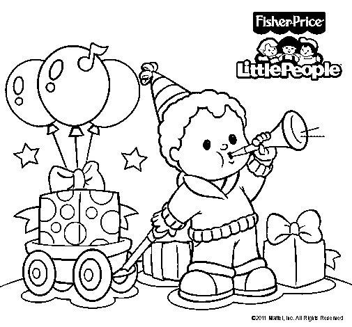 Dibujo de Little People 9 para Colorear
