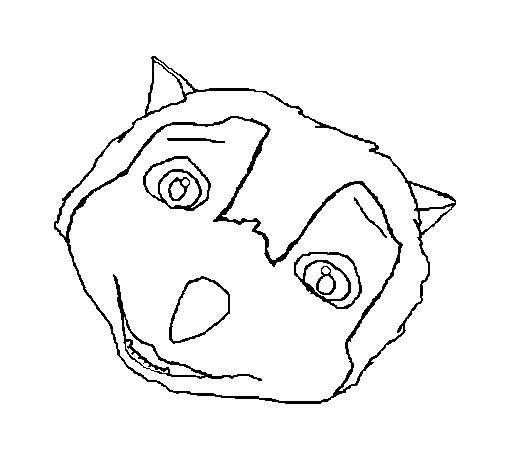Dibujo de Lobo 1 para Colorear