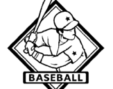 Dibujo de Logo de béisbol para colorear