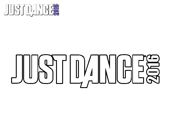 Dibujo de Logo Just Dance para Colorear