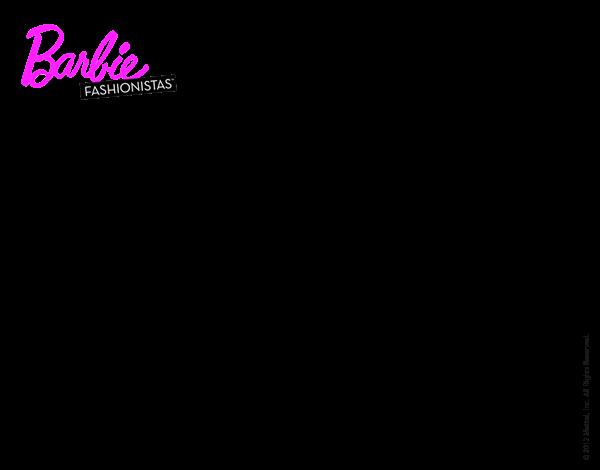 Dibujos De Barbie Para Colorear: Dibujo De Look Sport Para Colorear