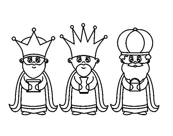 Dibujos Para Colorear De Los Tres Reyes Magos: Dibujo De Los 3 Reyes Magos Para Colorear