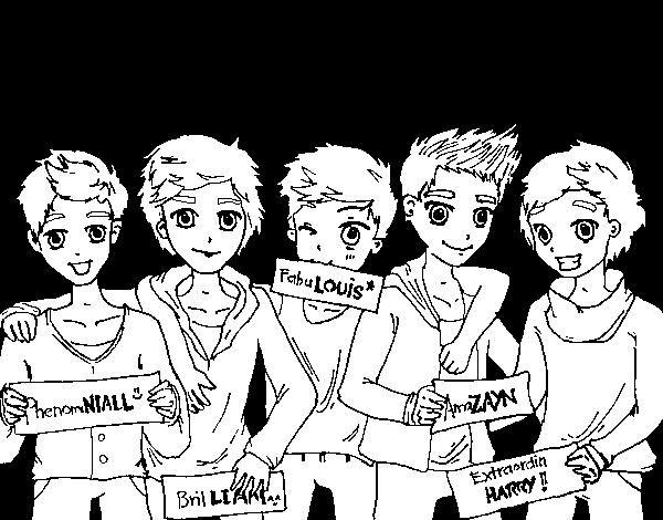 Dibujo de Los chicos de One Direction para Colorear - Dibujos.net