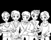 Dibujo de Los chicos de One Direction