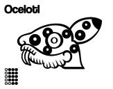 Dibujo de Los días aztecas: el jaguar Ocelotl para colorear