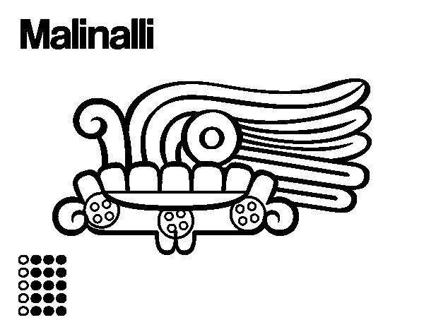 Dibujo de Los días aztecas: la hierba Malinalli para Colorear
