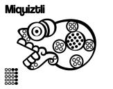 Dibujo de Los días aztecas: la muerte Miquiztli para colorear