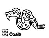 Dibujo de Los días aztecas: la serpiente Cóatl para colorear