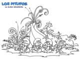 Dibujo de Los Pitufos: La aldea escondida para colorear