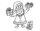 Dibujo de Los regalos de Papá Noel para colorear