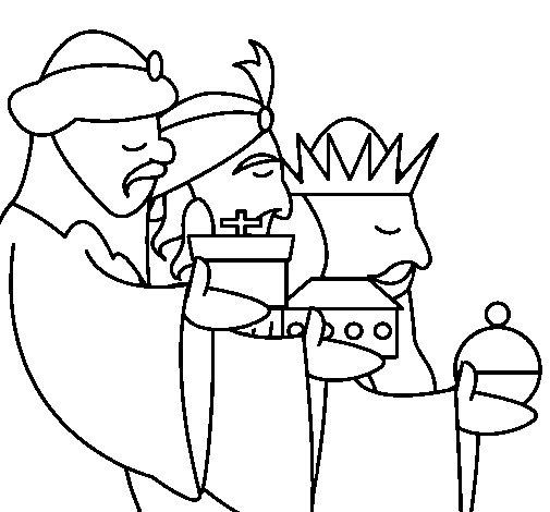 Dibujo de Los Reyes Magos 3 para Colorear