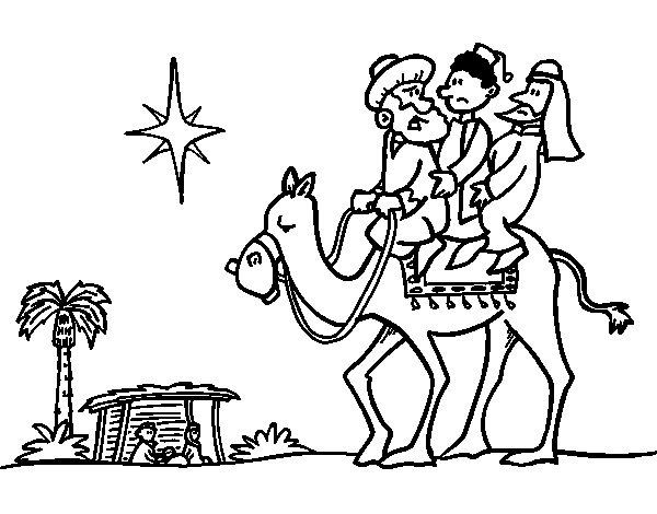 Dibujo de Los tres Reyes Magos para Colorear  Dibujosnet