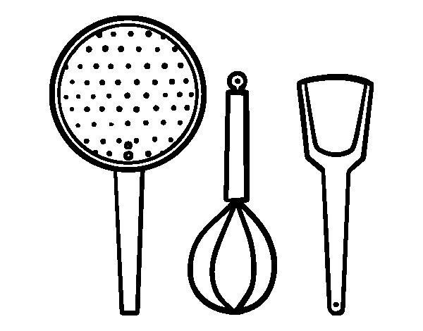 Dibujos De Cocina | Dibujo De Los Utensilios De Cocina Para Colorear Dibujos Net