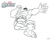 Dibujo de Los Vengadores - Hulk para colorear