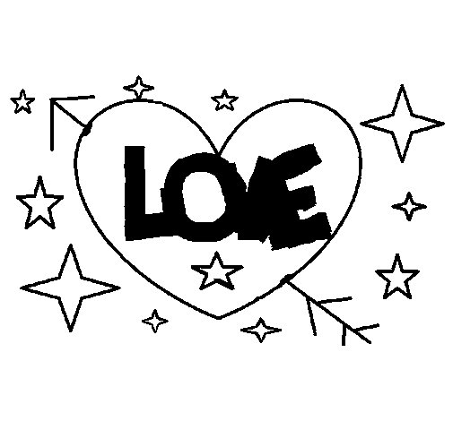 Dibujo de Love para Colorear
