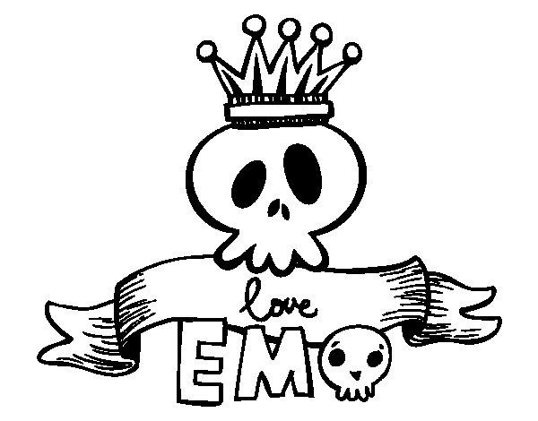 Dibujo de Love Emo para Colorear