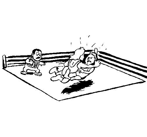 Dibujo de Lucha en el ring para Colorear