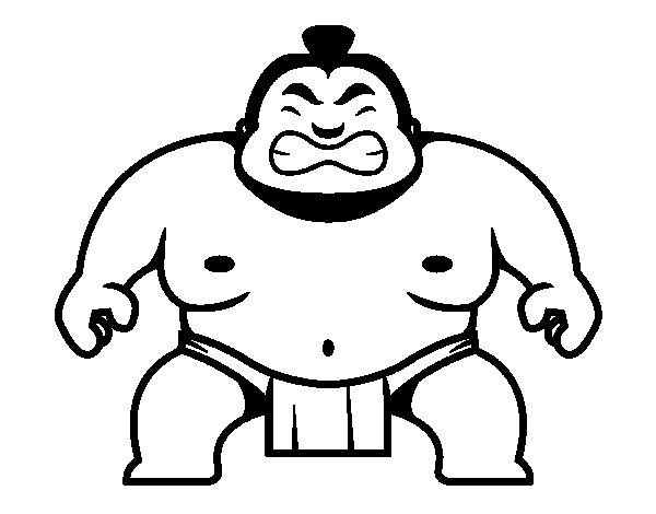 Dibujo de Luchador japonés para Colorear