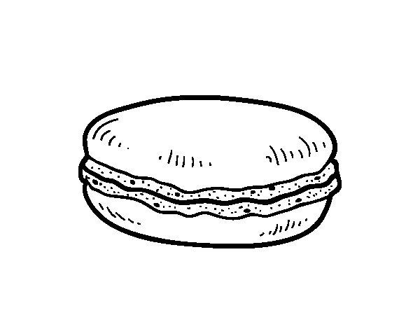 Dibujo de Macaron para Colorear