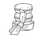 Dibujo de Macarons para colorear