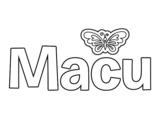 Dibujo de Macu para colorear