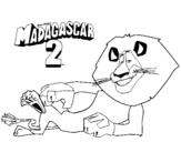 Dibujo de Madagascar 2 Alex 3 para colorear