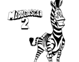 Dibujo de Madagascar 2 Marty 2 para colorear