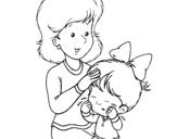 Dibujo de Madre  para colorear