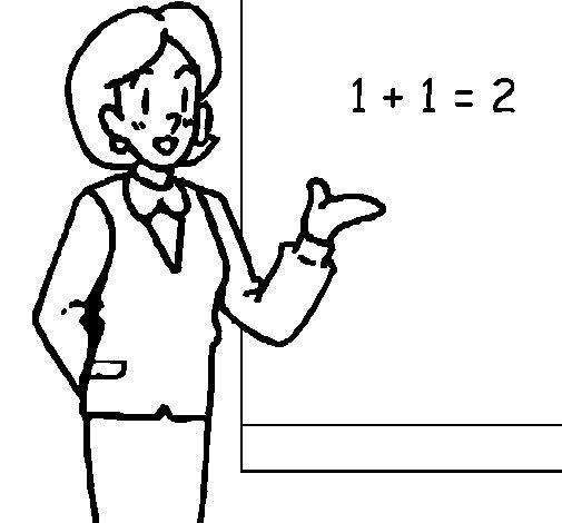Dibujo de Maestra de matemáticas para Colorear