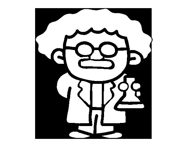 Dibujo de Maestro en ciencias para Colorear - Dibujos.net