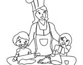 Dibujo de Mama cocinera para colorear