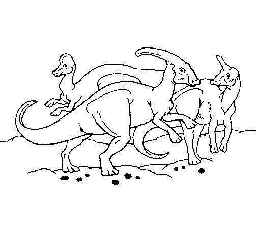 Dibujo de Manada de hervboros para Colorear  Dibujosnet