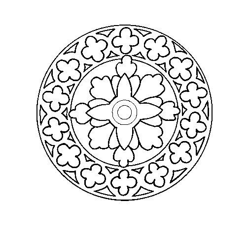 Dibujo de Mandala 21 para Colorear