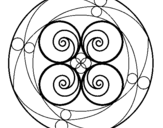 Dibujo de Mandala 5 para colorear