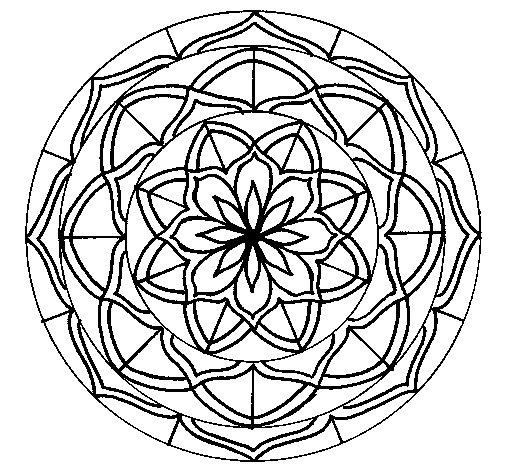 Dibujo de Mandala 6 para Colorear - Dibujos.net