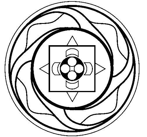 Dibujo de Mandala 7a para Colorear