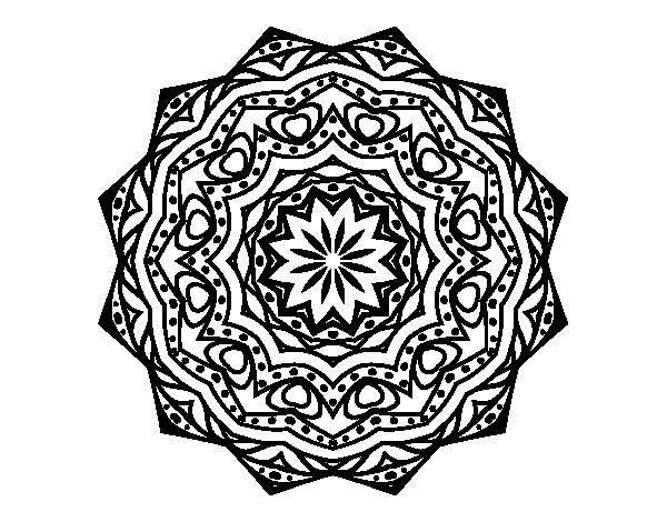 Mandalas Faciles Para Colorear Mandalas Para Colorear Muy: Dibujo De Mandala Con Estratos Para Colorear