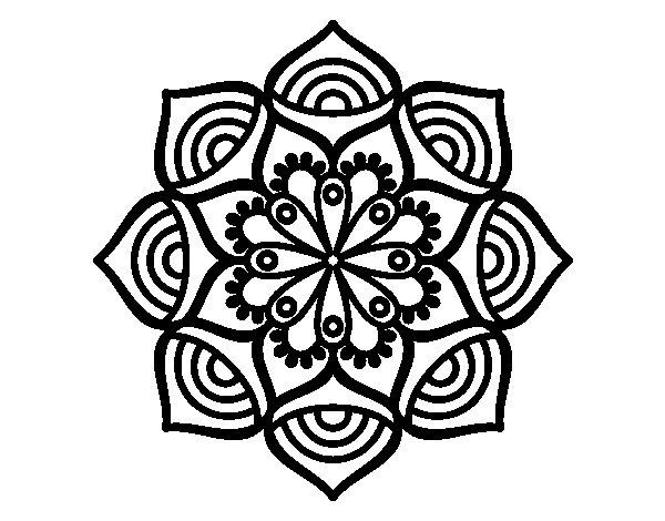 Colorear Mandalas Mandalas Dibujos Para Colorear Mandalas: Dibujo De Mandala Crecimiento Exponencial Para Colorear