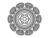 Dibujo de Mandala crecimiento vegetal para colorear
