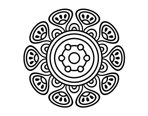 Mandalas De Dragones Para Colorear Descargar Imprimir Y: Dibujo De Mandala Crecimiento Vegetal Para Colorear