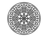 Dibujo de Mandala crop circle para colorear