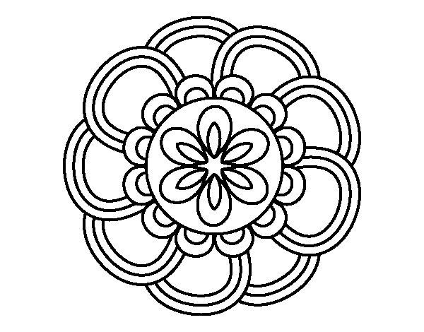 Dibujo De Mandala 11 Para Pintar Y Colorear En Línea: Dibujo De Mandala De Pétalos Para Colorear
