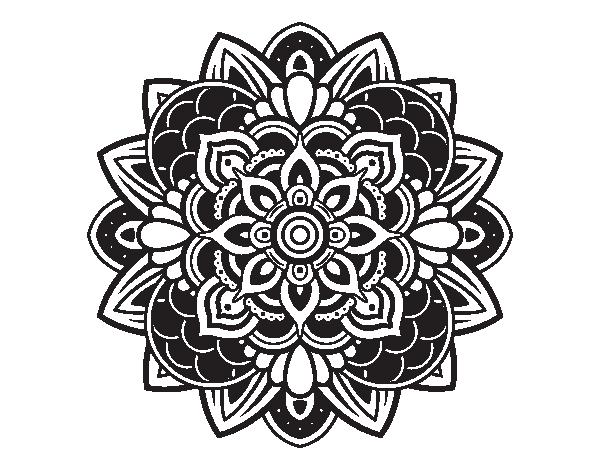 Dibujo de Mandala decorativa para Colorear - Dibujos.net | 600 x 470 png 27kB