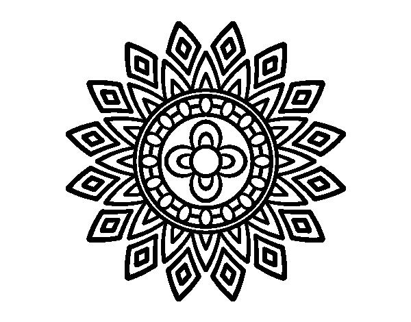 Dibujo De Mandala Destellos Para Colorear Dibujos Net