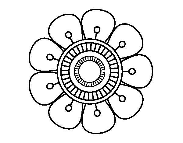 Dibujo de mandala en forma de flor para colorear - Maneras de pintar ...
