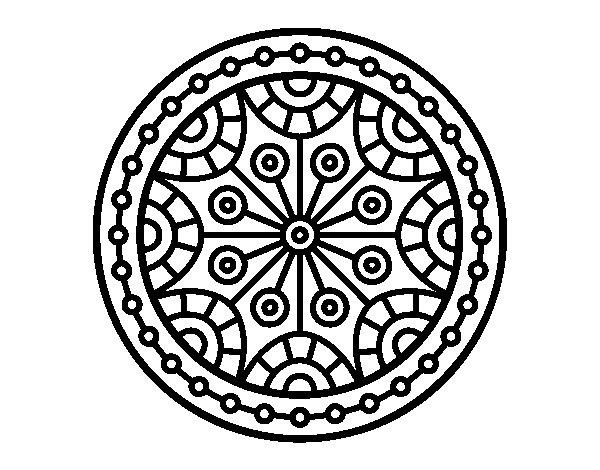 Colorear Mandalas Mandalas Dibujos Para Colorear Mandalas: Dibujo De Mandala Equilibrio Mental Para Colorear