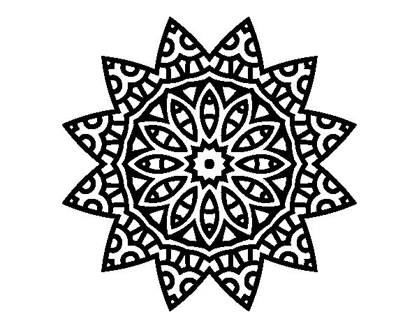 Dibujo De Mandala Estrella Para Colorear Dibujos Net