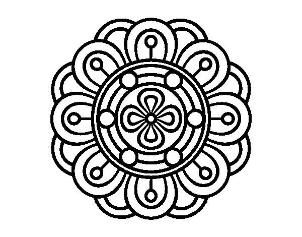 Dibujo de Mandala flor creativa para Colorear  Dibujosnet